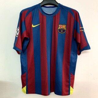 S-XXL Barcelona 2005-06 Cổ Điển Áo Thi Đấu Sân Nhà 10 RONALDINHO 30 MESSI thumbnail