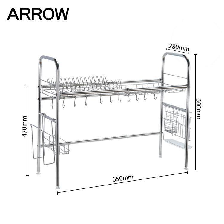 Arrow Stainless Steel Sink Shelf Rack Kitchen Drain Rack Dish Storage Rack Sink Drain Basket Kitchen Supplies Storage Rack By Arrow Sanitary Ware.