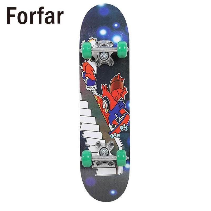 3 Phong Cách Hoàn Chỉnh Ván Trượt Skate Board 4 Bánh Longboard Ròng Rọc Bánh Xe Thời Trang Ular