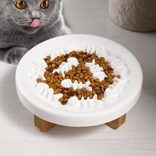 A YAYA Bát Ăn Cho Mèo Tương Tác Chống Nuốt Nước Bằng Gốm Tập Luyện Lành Mạnh Bát Ăn Cho Chó Ăn Chậm