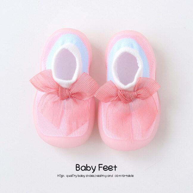 Giày Lưới Thoáng Khí Hàn Quốc Ins Vớ Phòng Cotton Chống Rách Giày Công Chúa Hoa Chống Trượt Đế Mềm Dễ Thương Mới Cho Bé Gái Và Bé Trai Đi Bộ Giày Phẳng Trẻ Sơ Sinh Sneakers PreWalker Giảng Viên 0-12 Tháng Trẻ Sơ Sinh Toddler Đi Bộ Đầu Tiên
