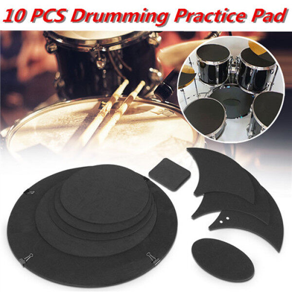 Drum Practice Pad Silent Mute Sound Reduction Full Size 10PCS Malaysia