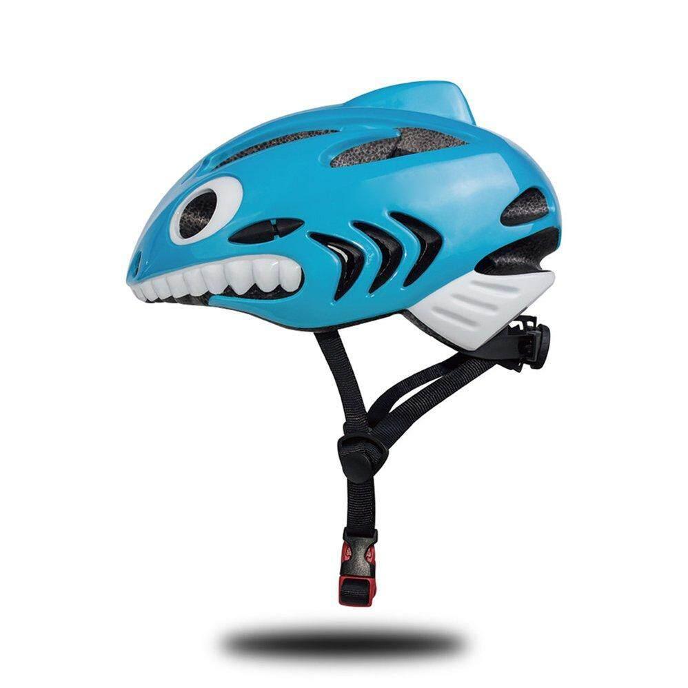 Helm Sepeda Anak-anak Desain Hiu Adjustable Tahan Lama Anak Helm Sepeda dengan Menyenangkan Air