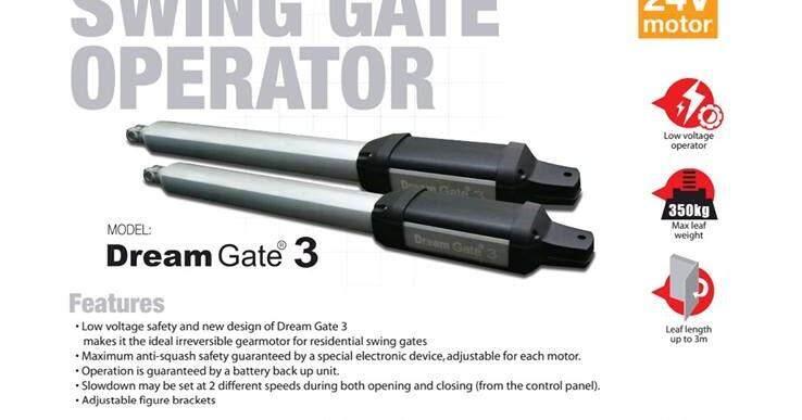DREAM GATE AGT AUTOGATE  Italy Technology  Swing Gate Motor Heavy Duty Super Strong