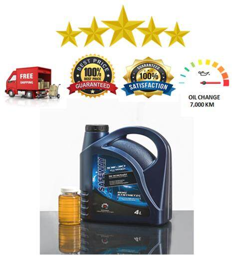 SAFEWAY 100% Semi Synthetic SAE 5W30 API SN Plus 4 Litres Engine Lubricant with Free Used Oil Analysis A blood Test For Your Engine