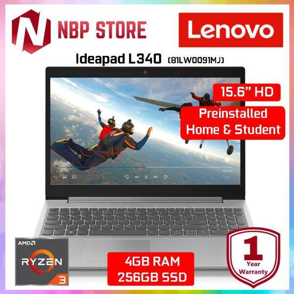 Lenovo Ideapad L340-15API 81LW0091MJ 15.6  Laptop Platinum ( R3 3200U, 4GB, 256B, Integrated, W10, H & Student ) Malaysia