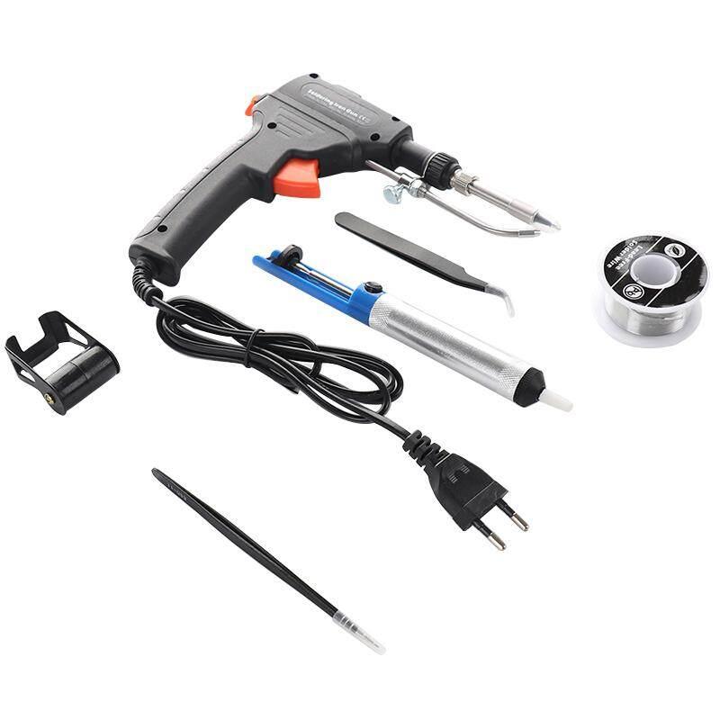 [Easybuy88] 220V 60W EU Automatic Send Tin Electric Soldering Iron Rework Station Desoldering Pump Welding Tool