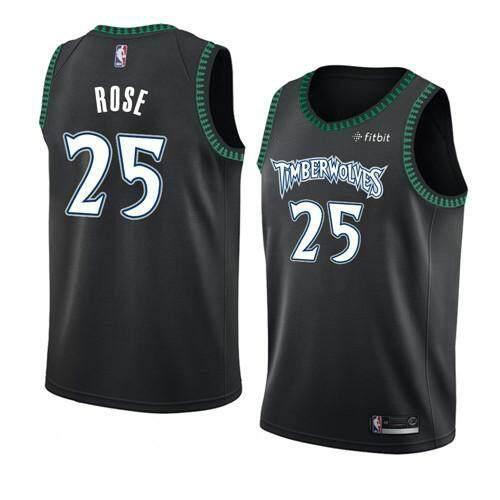 Mã Khuyến Mãi Khi Mua NBA Nam Minnesota Timberwolves Derrick Rose #25 Gỗ Cứng Cổ Điển Swingman Bóng Rổ Jersey S-2XL Chuyên Nghiệp