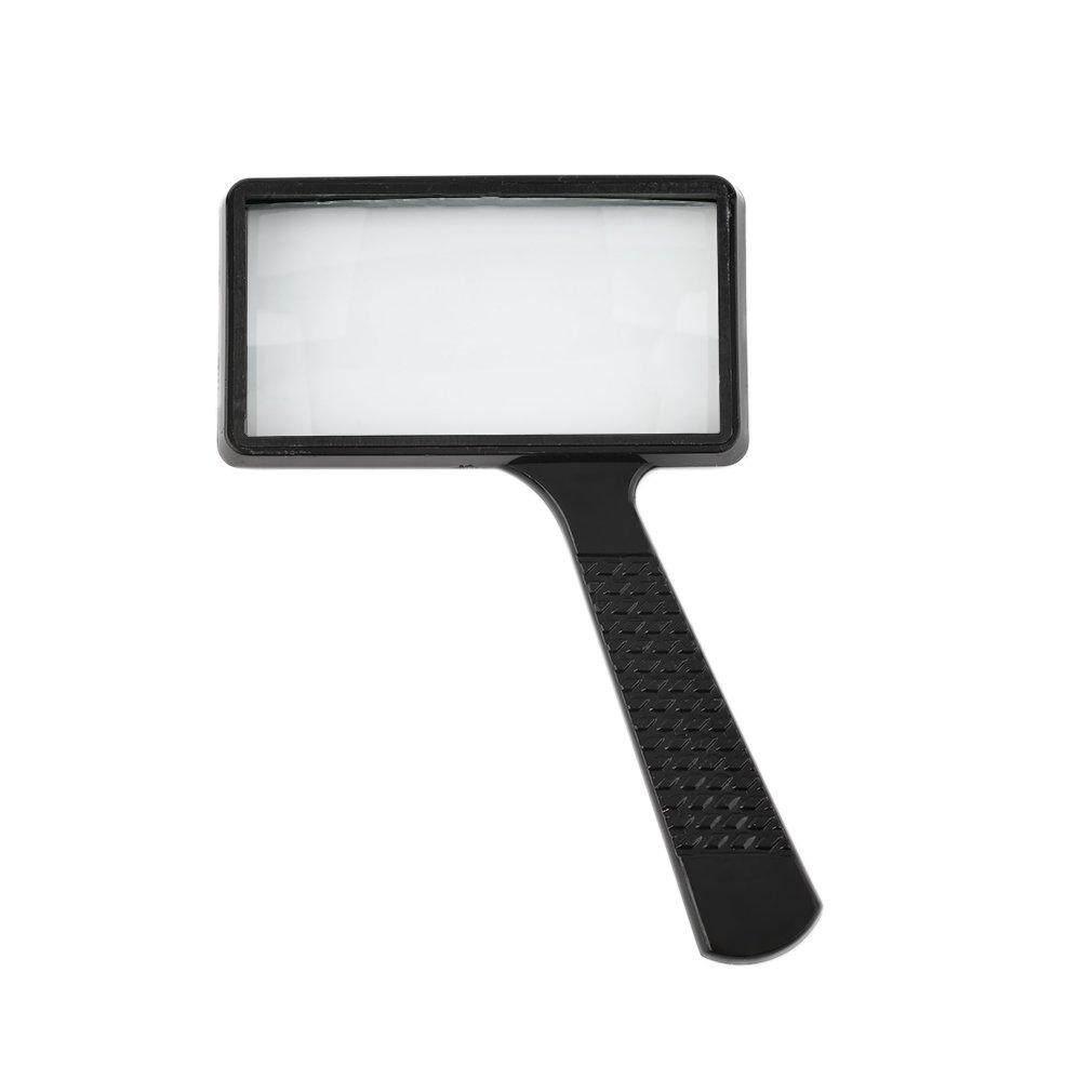 Allwin Light Weight 4X Rectangular Handheld Large Reading Magnifying Glass Magnifier