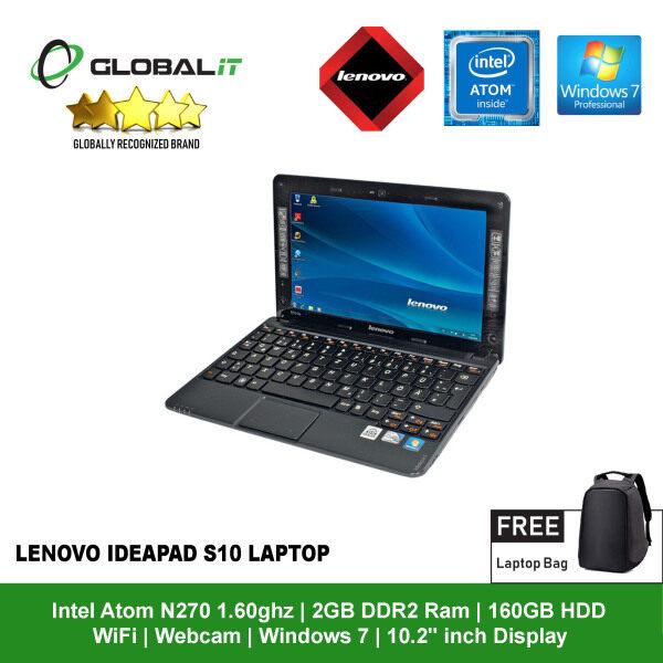 (Refurbished Notebook) Lenovo IdeaPad S10 Laptop / 10.2 inch LCD / Intel Atom N270 / 2GB DDR2 Ram / 160GB HDD / WiFi / Windows 7 / Webcam Malaysia
