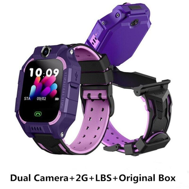 Dual Camera Childrens Smart Watch 2G SIM Card Call Kids Smart Watches LBS Positioning Anti Lost Watch Phone For Baby Girls Boys Malaysia