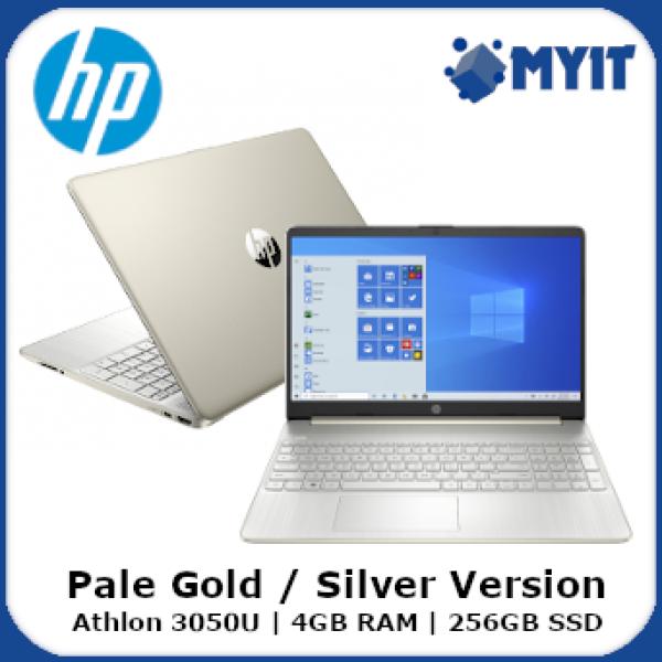 HP Laptop 15S-EQ1017AU / 15S-EQ1018AU 15.6 inch HD Display AMD Athlon 3050U 4GB DDR4 RAM 256GB SSD Windows 10 Notebook W10 64-bit with Carry Bag (Pale Gold / Silver Version) Malaysia