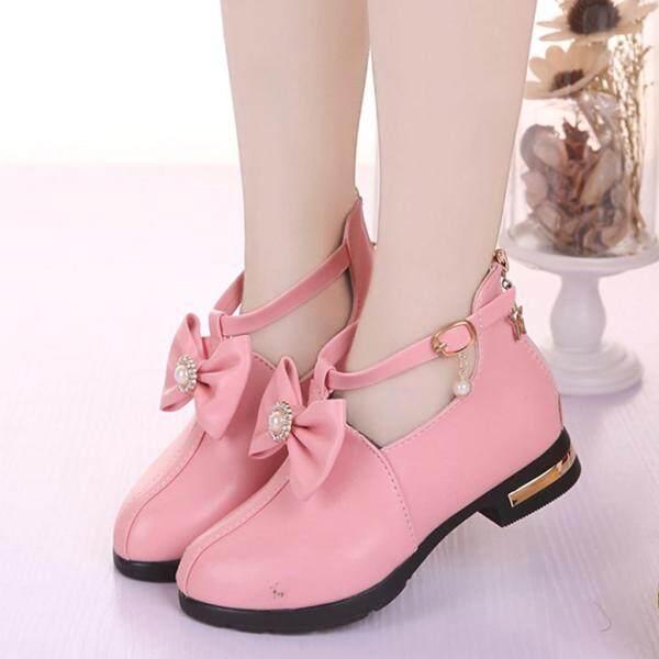 Giá bán Giày Bốt Nữ BULL, Năm Mới Giày Giày Da Công Chúa Thắt Nơ Cho Bé Gái Ngắn Khởi Động Duy Nhất