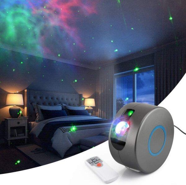 Bảng giá Máy Chiếu Laser Sao Ban Đêm LED, Máy Chiếu Thiên Hà Bầu Trời Đầy Sao Xoay 360 Với Chương Trình Chiếu Sáng 15 Chế Độ Cho Chương Trình Trang Trí Tiệc Phòng Ngủ