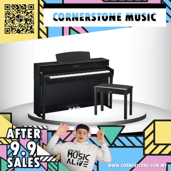 Yamaha Clavinova Digital Piano CLP-745 ( CLP745 / CLP 745 / CLP745B ) GrandTouch-S™ keyboard with wooden 88 keys - B / Black Cornerstone Music Malaysia