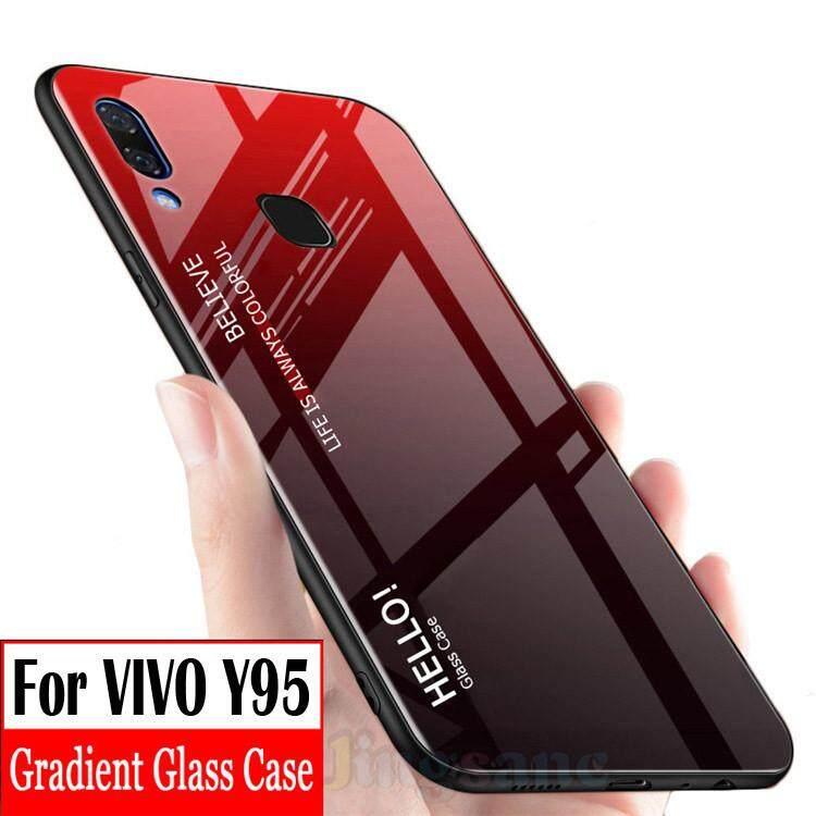 Rp 69.000. Untuk VIVO Y95 Casing Ponsel Fashion Rainbow Gradient Kaca Wadah Lensa Warna-warni Tahan Gores ...