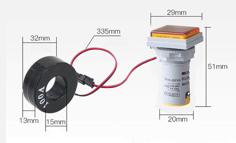Meter AC 60-500V 0-100A LED Digital Dual Display Voltmeter Ammeter Voltage Gauge