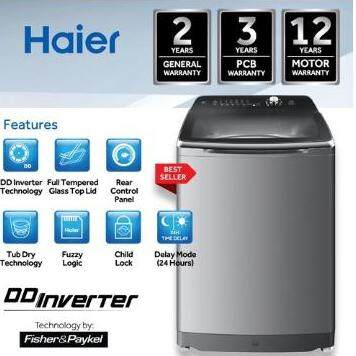 Haier Washer 12kg Fully Automatic Washing Machine HWM120-M1990DD (INVERTER)