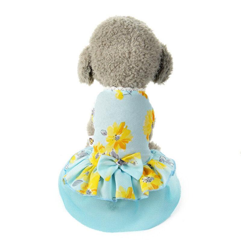 Kikipet Miễn Phí Vận Chuyển COD Quần Áo Thú Cưng Chó Mèo Váy Xòe Có Nơ Váy Ren Chó Con Trang Phục Công Chúa Cho Chó Trang Phục Quần Áo