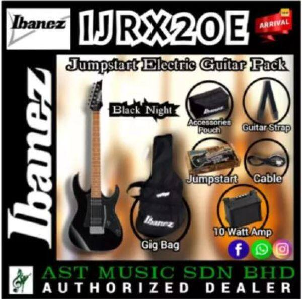 Ibanez Jumpstart IJRX20E Electric Guitar Pack - Black Malaysia