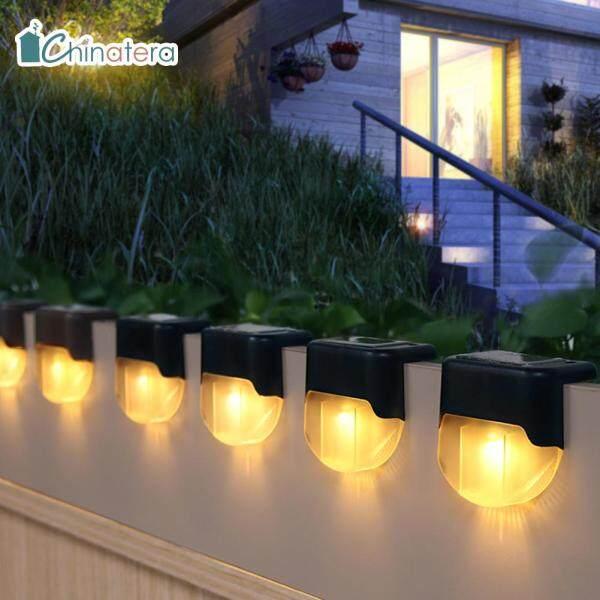 [Chinatera] 4 Chiếc Đèn LED Năng Lượng Mặt Trời Đèn Cầu Thang Ngoài Trời Không Thấm Nước Bước Hàng Rào Đèn Cho Sân Hiên Lối Đi Trong Vườn