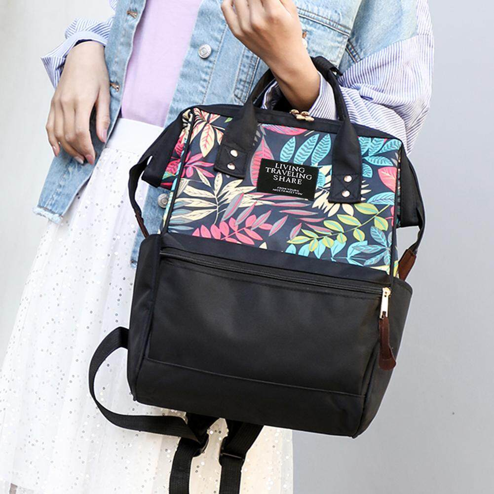 ✿ Fashionhall Store ✿(Free Shipping/Hot Selling) Tropical Plant Print Travel Backpack Large Capacity Nylon Women School Bags