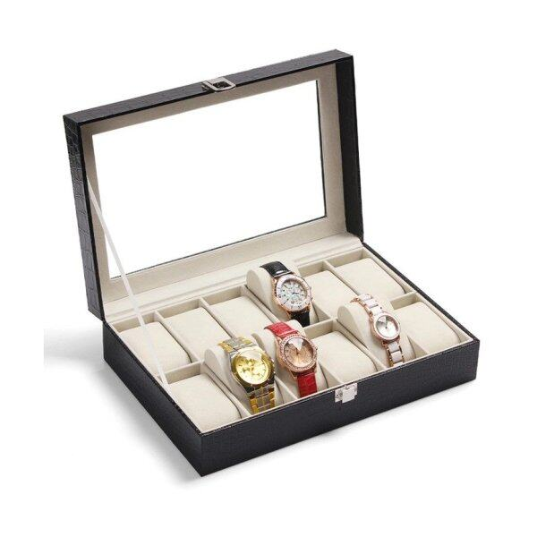 Elegant Premium 12 Slot PU Leather Watch Box For Collection Malaysia