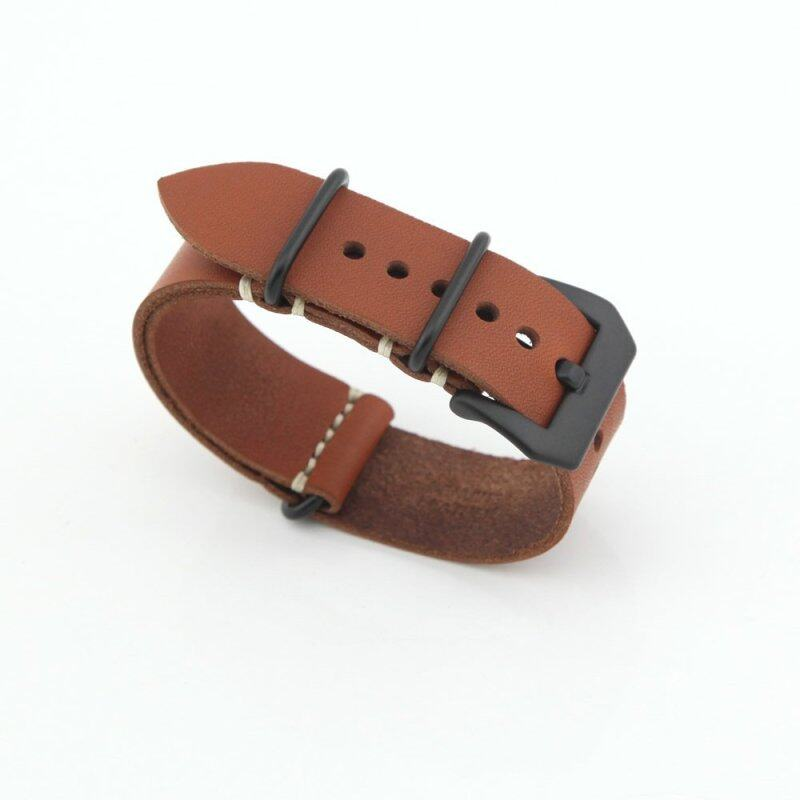 eMyly Leather Replacement Watch Band Strap Belt 24mm For Man or Woman(Coffee Color) Malaysia