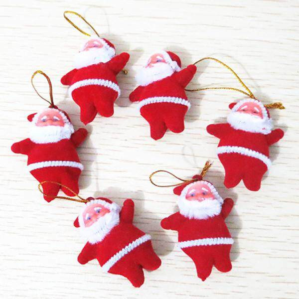 Finether 6PCS Festival Party Supplies Christmas Santa Hanging Decoration