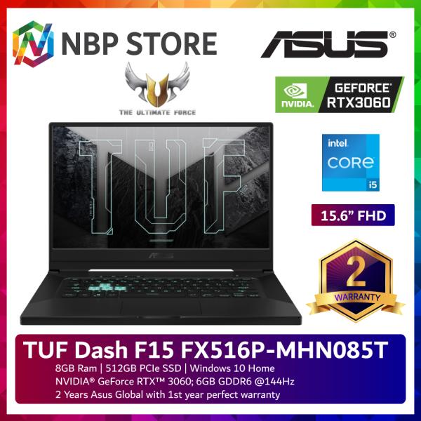Asus TUF Dash F15 FX516P-MHN085T 15.6 144Hz Gaming Laptop ( i5-11300H, 8GB, 512GB SSD, RTX3060 6GB, W10 ) Malaysia