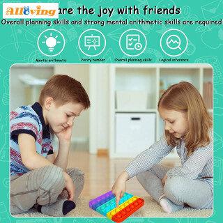 Alloving 1x Mainan Fidget Sensor, Thần Tài Gelembung Pop , Dorong Penghilang Stres Kebutuhan Khusus Kelas Diam Mainan Bật Nó Thần Tài Murah Popit Mainan 5