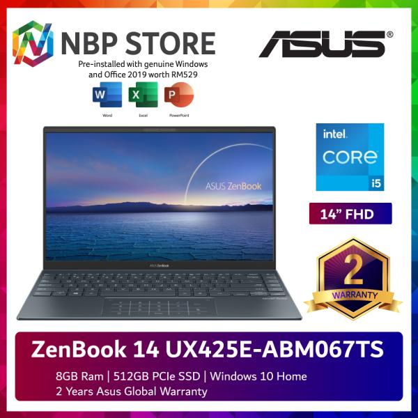 Asus ZenBook 14 UX425E-ABM067TS 14 FHD Laptop Pine Grey ( i5-1135G7, 8GB, 512GB SSD, Intel, W10, HS ) Malaysia