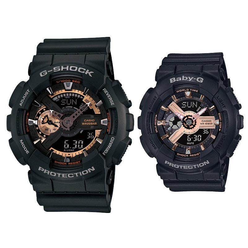 SPECIAL PROMOTION CASI0 G_SHOCK_GA110 DUAL TIME SILICON STRAP WATCH SET FOR COUPLES Malaysia