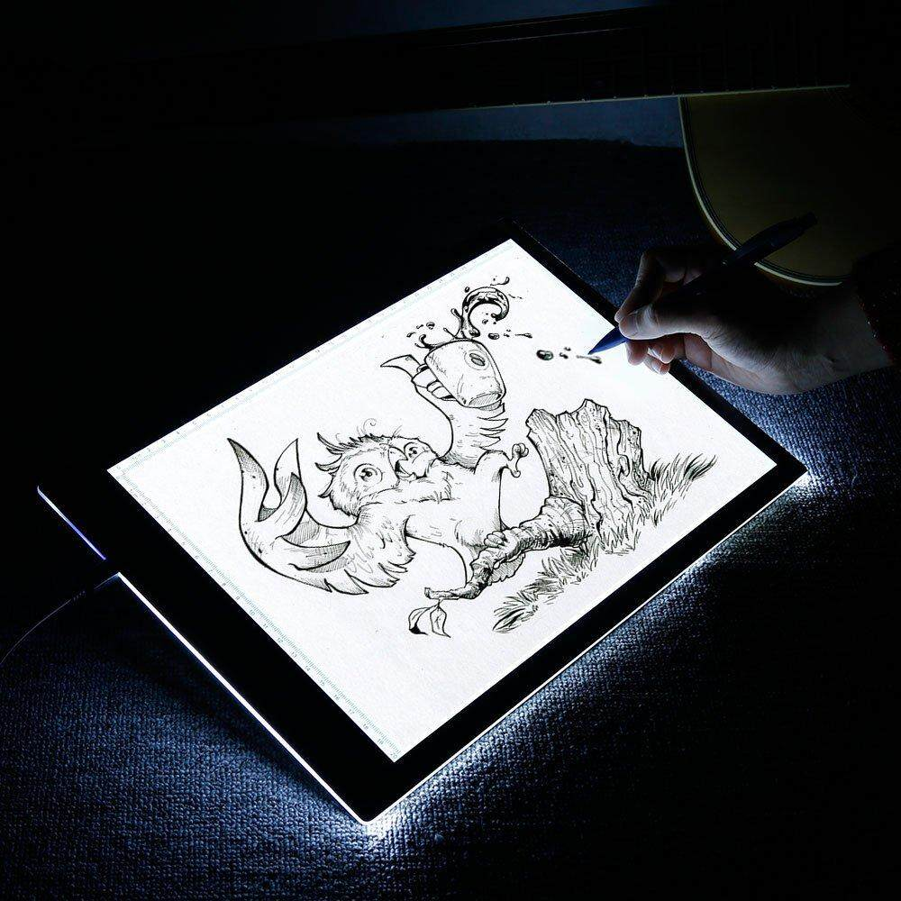 Vastar LED Tablet Light, Level 3 Dimmable A4 LED Art Mold Drawing Board With 1 USB Cable
