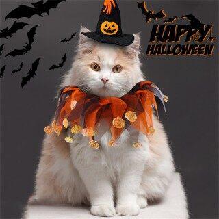 Antives Trang Phục Cho Mèo Cưng Trang Trí Tiệc Halloween, Vòng Cổ Chó Con Dẫn Dắt Phụ Kiện Hóa Trang Chó Và Mèo, Vòng Cổ Khóa Điều Chỉnh Được, Phụ Kiện Cho Thú Cưng thumbnail