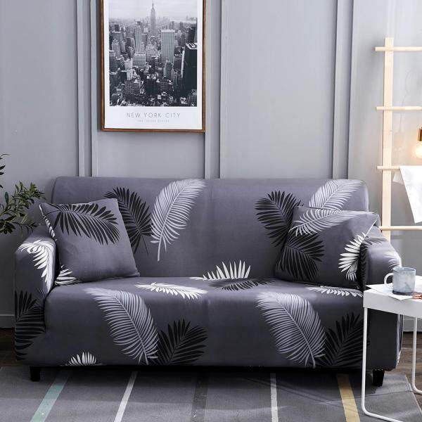 1 2 3 4 Seater Sarung Sofa Cover Universal L-Shape Slipcover Home Room Decoration One Sofa Cover One Free Pillow Case