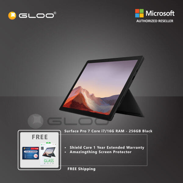 (Pre-Order) Microsoft Surface Pro 7 Core i7/16G RAM - 256GB Black - VNX-00025 + Shieldcare 1 Year Extended Warranty + Amazingthing Screen Protector (ETA : 8.10.2021) Malaysia