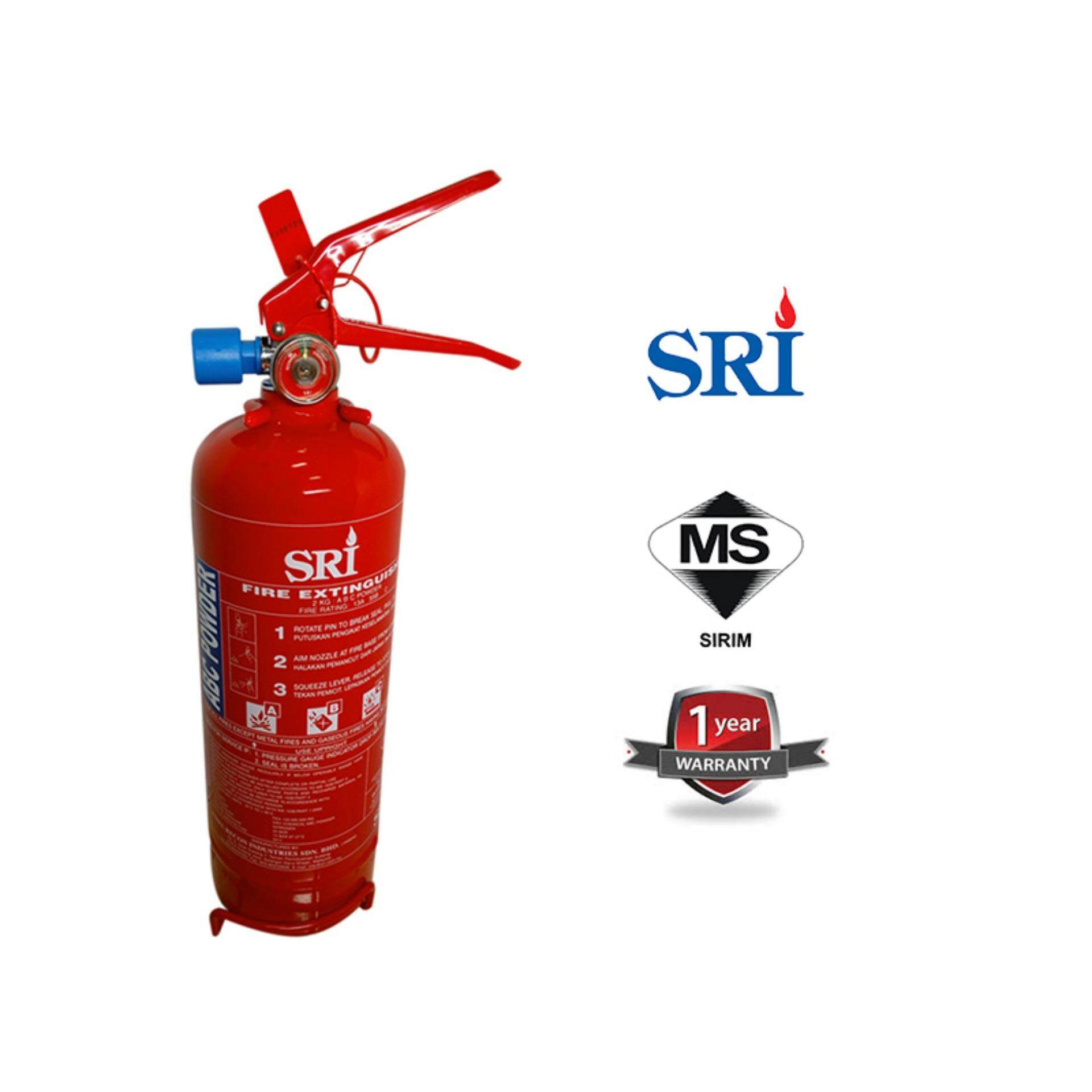 Ezspace Sri 2kg Fire Extinguisher ABC Dry Powder Year 2019 (SIRIM Approved) for vehicles and household Pemadam Api