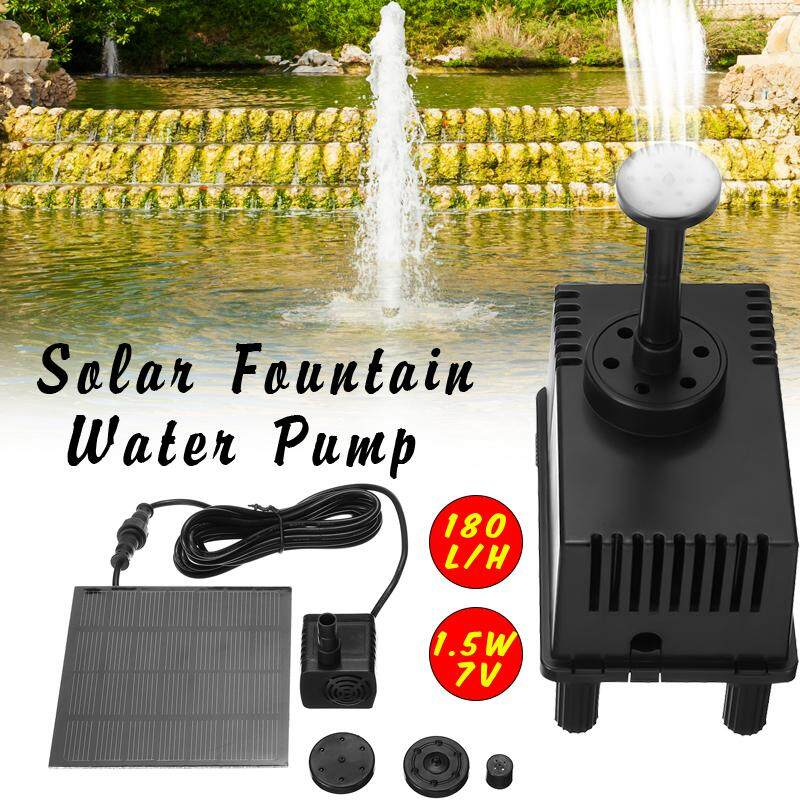 【Free Shipping + Flash Deal】Solar Water Panel Power Fountain Pump Kit Pool Garden Pond Watering Submersible