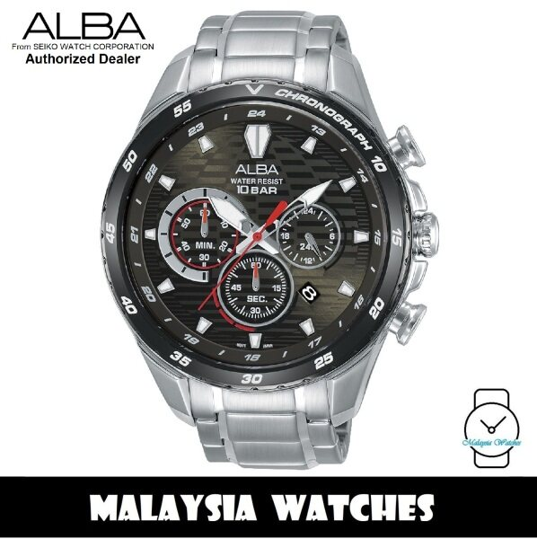 Alba AT3C17X SignA Quartz Chronograph Dark Grey Dial Stainless Steel Mens Watch AT3C17 AT3C17X1 (from SEIKO Watch Corporation) Malaysia