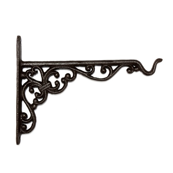 Cast Iron Hanger Wrought Iron Garden Hook Flower Pots Basket Wall Hanger Bracket With Expansion Screw