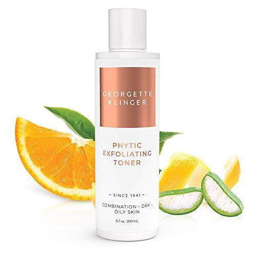 Georgette Klinger Phytic Exfoliating Face Toner - Alcohol Free Facial Astringent to Help diminish The Appearance of Dark Spots, Fine Lines & Wrinkles