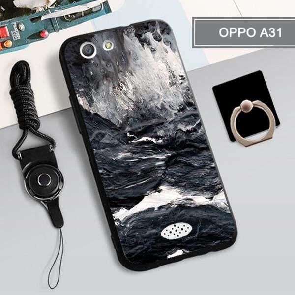 Casing untuk OPPO A31/Neo 5 360 ° Penuh Perlindungan Ponsel Sarung Silikon Tahan Guncangan Casing Ponsel Casing Kover untuk OPPO A31/NEO 5 OPPO Casing Ponsel dengan Lanyard Tempat Cincin
