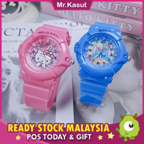 Mr.Kasut Childrens Watch Hello Kitty KT Cat Watch Stitch Cartoon Silicone Malaysia