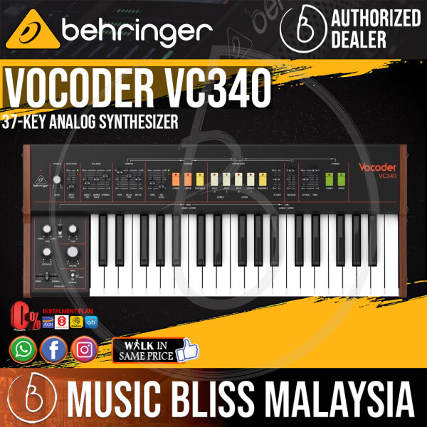 Behringer Vocoder VC340 37-key Analog Synthesizer (VC-340) *Everyday Low Prices Promotion* Malaysia
