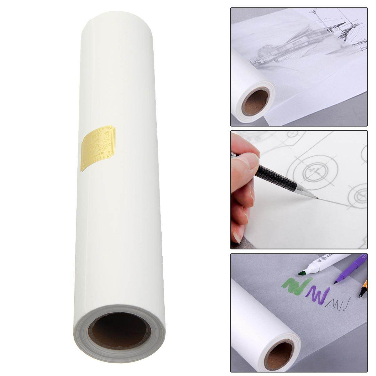 46mx30.5cm Transparent Draft Art Sketch Butter Paper Tracing Paper Roll White By Freebang.