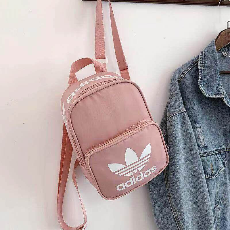 Adidas_Bag Mini Backpack Backbag Laptop Student School Bag For Girl And Boy Kstyle Korean Fashion Sports Travel Backpack For Women And Men