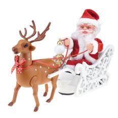 Giáng Sinh Santa Claus Hươu Đi Bộ Âm Nhạc Búp Bê Đồ Chơi Điện Tử Xmas Quà Tặng Trẻ Em