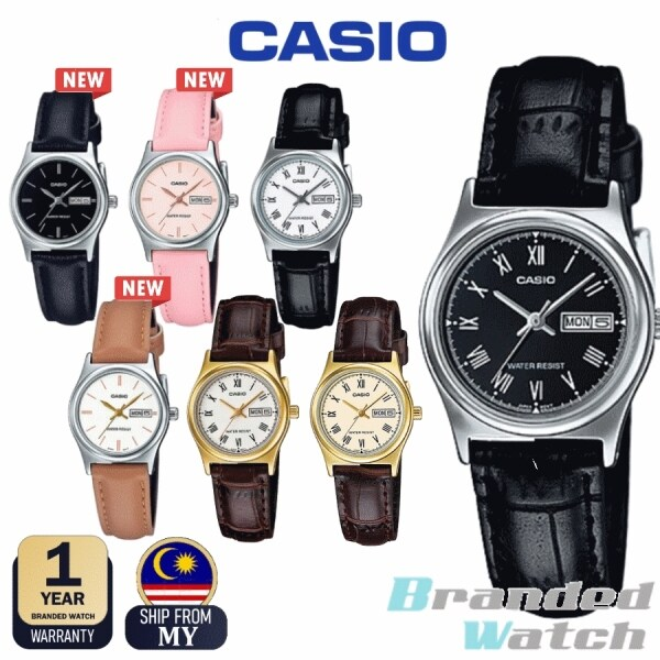 [100% ORIGINAL] CASIO LTP-V006L LTP-V006GL WOMEN ANALOG QUARTZ DAY DATE DISPLAY LEATHER LADY WATCH Malaysia