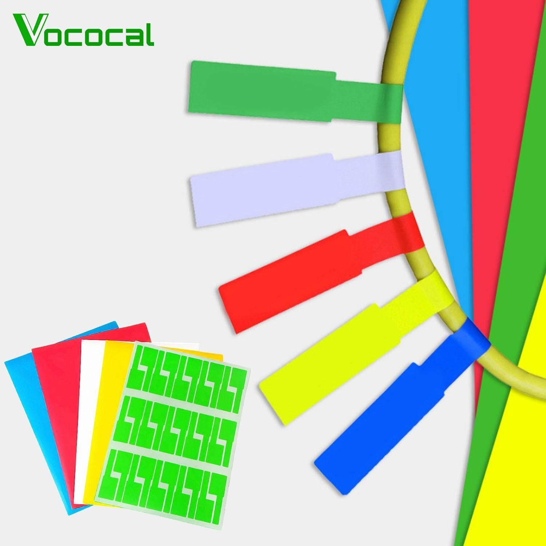Mua 【In stock】Vococal 10 Tờ Tự dán Chống Thấm Nước Chống Rách Cáp Nhãn Dán Dây Nhận Dạng Các Thẻ cho Máy In Đa chức năng Duplicator